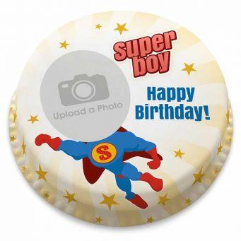Super Boy photo Cake