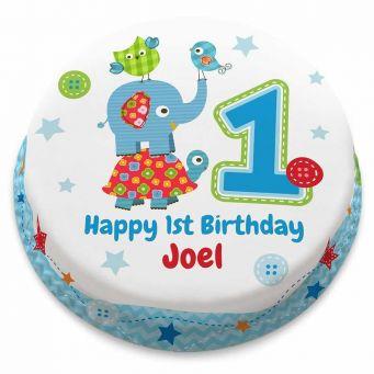 1st Birthday Animals Cake