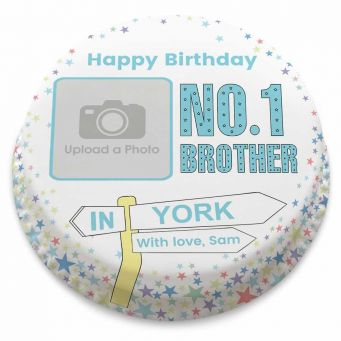 No.1 Brother Photo Cake