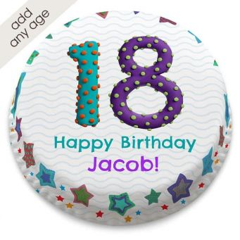 Any Age Bobble Number Cake