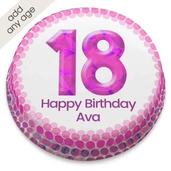 Any Age Pink Number Cake