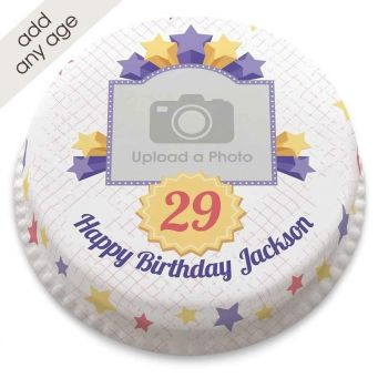 Any Age Starry Photo Cake