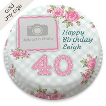 Any Age Vintage Photo Cake