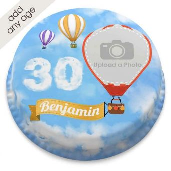 Any Age Hot Air Balloon Cake