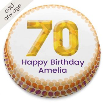 Any Age Golden Number Cake