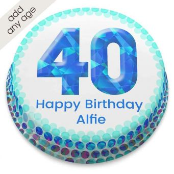 Any Age Blue Number Cake