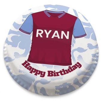 Aston Villa F.C. Themed Football Shirt Cake