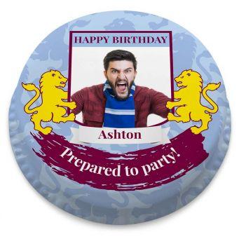Aston Villa F.C. Themed Photo Cake