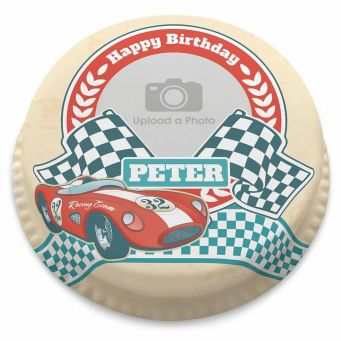 Racing Car Photo Cake