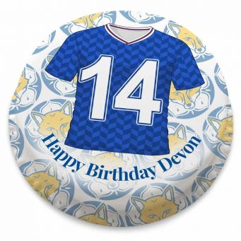 Leicester City F.C. Themed Football Shirt Cake