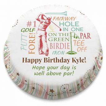 Golf Collage Cake