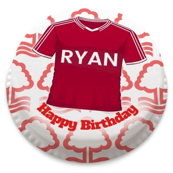 Nottingham Forest FC Shirt Themed Cake