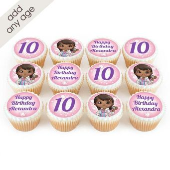 12 Pink Doctor Cupcakes