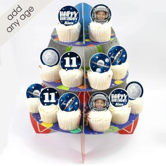 12 Space Cupcakes Tower