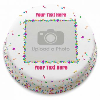 Confetti Photo Cake