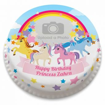 Rainbow Pony Cake