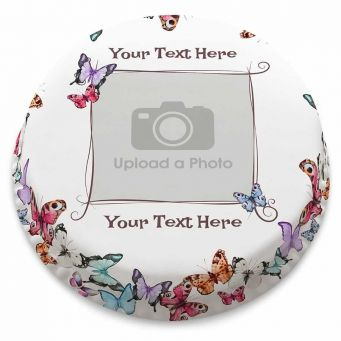 Butterflies Photo Cake