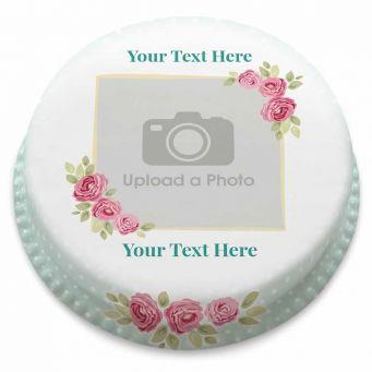 Vintage Floral Photo Cake