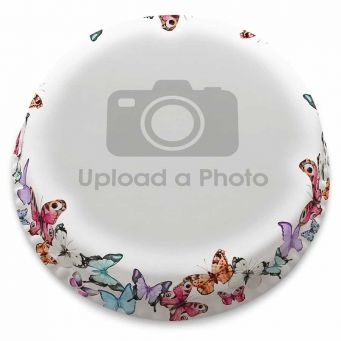 Butterflies Full Photo Cake