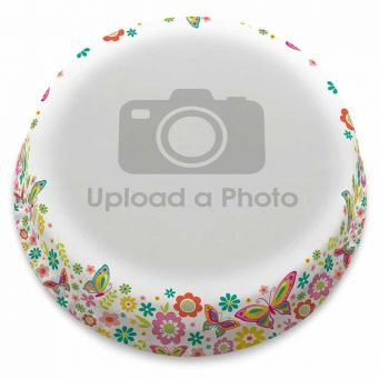 Floral Butterflies Full Photo Cake