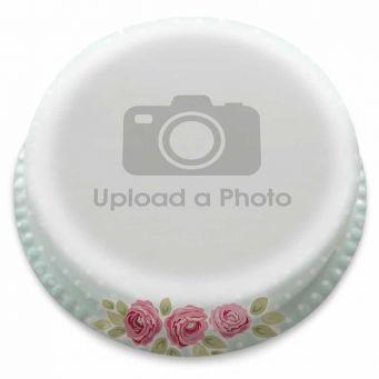 Vintage Floral Full Photo Cake