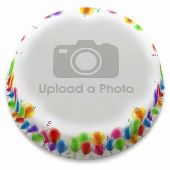 Balloons Full Photo Cake