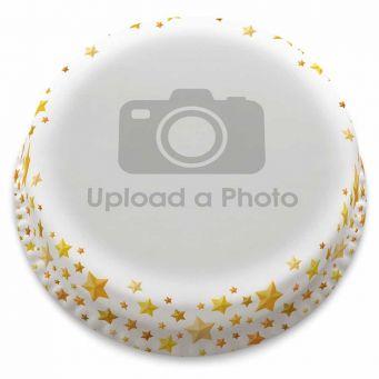 Golden Stars Full Photo Cake