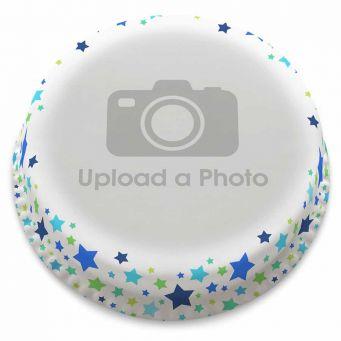Blue Stars Full Photo Cake