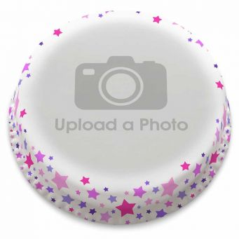 Pink Stars Full Photo Cake