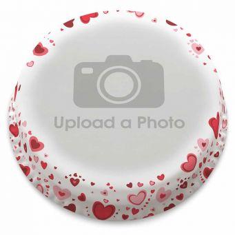 Red Hearts Full Photo Cake