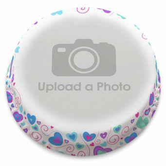 Colourful Hearts Full Photo Cake