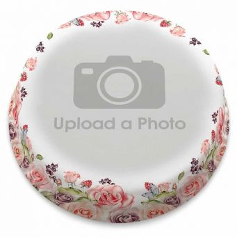 Traditional Floral Full Photo Cake
