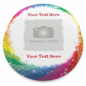 Rainbow Swirl Photo Cake