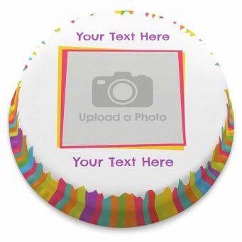 Stripy Photo Cake
