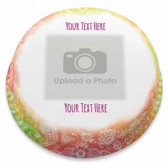 Rainbow Henna Photo Cake