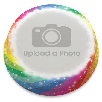 Rainbow Swirl Full Photo Cake