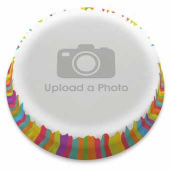 Stripy Full Photo Cake