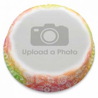 Rainbow Henna Full Photo Cake