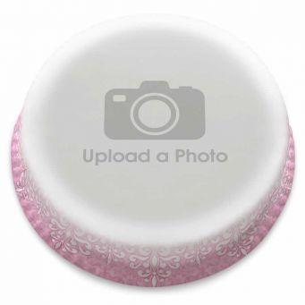 Pink Lace Full Photo Cake