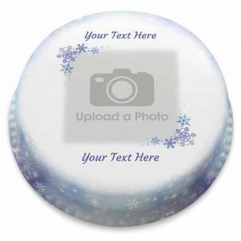 Snowflake Photo Cake
