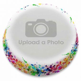 Paint Splats Full Photo Cake