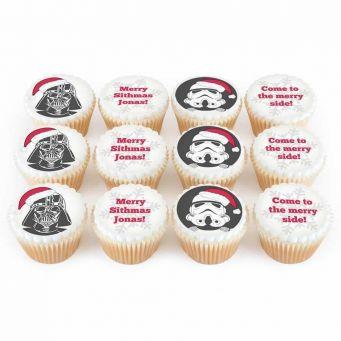 12 Space Christmas Cupcakes