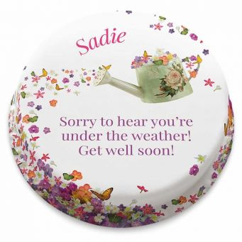 Floral Get Well Cake