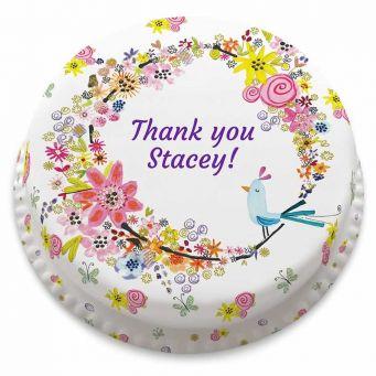 Thank You Birdie Cake