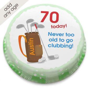 Golf Clubbing Birthday Cake