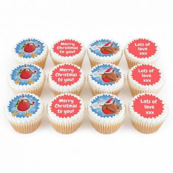 12 Robin Cupcakes