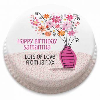 Birthday Vase Cake