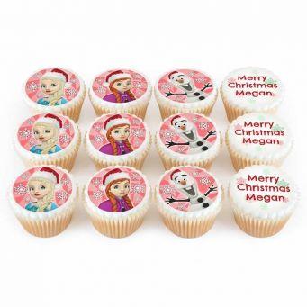 12 Ice Christmas Cupcakes