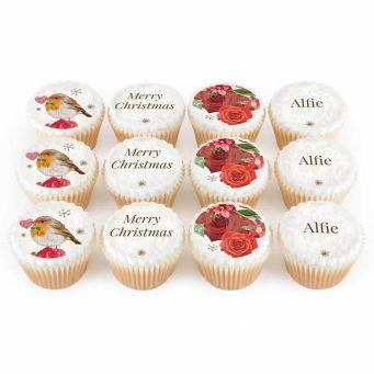 12 Robin Rose Cupcakes