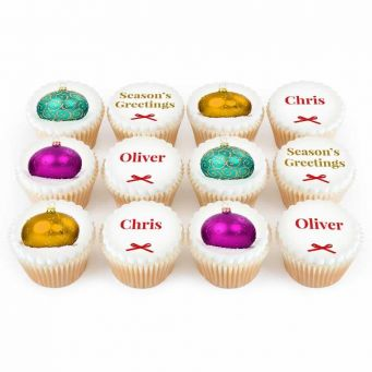 12 Bauble Cupcakes